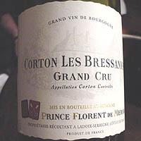 DOMAINE PRINCE FLORENT DE MERODE CORTON LES BRESSANDES 1998