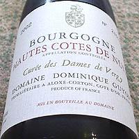 DOMAINE DOMINIQUE GUYON BOURGOGNE HAUTES COTES DE NUITS Cuvee des Dames de Vergy 2002