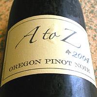 A to Z OREGON PINOT NOIR 2004
