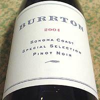 BURRTON SONOMA COAST SPECIAL SELECTION PINOT NOIR 2004