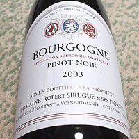 DOMAINE ROBERT SIRUGUE BOURGOGNE 2003