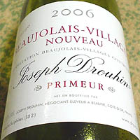 Joseph Drouhin BEAUJOLAIS-VILLAGES NOUVEAU PRIMEUR 2006