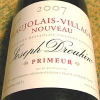 Joseph Drouhin BEAUJOLAIS-VILLAGES NOUVEAU 2007