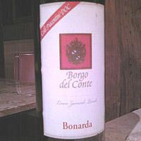 Cantine Valtidone Borgo del Conte Bonarda 2004