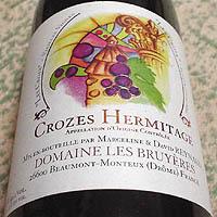 DOMAINE LES BRUYERES CROZES HERMITAGE -LES CROIX- VIEILLES VIGNES 2003