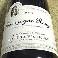 JEAN-PHILIPPE FICHET Bourgogne Rouge 1999
