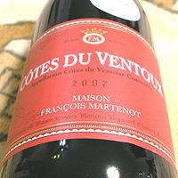 MAISON FRANCOIS MARTENOT COTES DU VENTOUX 2007