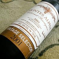 MONTES ALPHA Cabernet Sauvignon VINTAGE SELECTION 2001