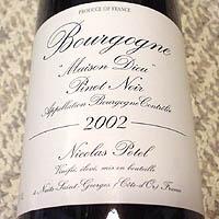 Nicolas Potel Bourgogne Vieilles Vignes Maison Dieu 2002