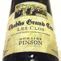DOMAINE PINSON Chablis Grand Cru LES CLOS 2003
