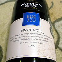 WYNDHAM ESTATE BIN333 PINOT NOIR 2007