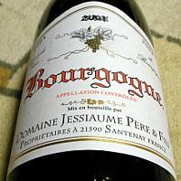 DOMAINE JESSIAUME PERE et FILS Bourgogne 2004