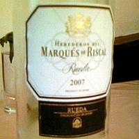 HEREDEROS DEL MARQUES DE RISCAL Rueda 2007