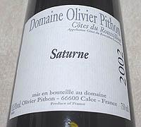 Domaine Olivier Pithon Saturne 2002