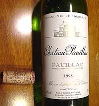 Chateau Pauillac 1998