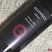 オーストラリアン・ドメーヌ・ワインズ / アライアンス・シラーズ '2004'