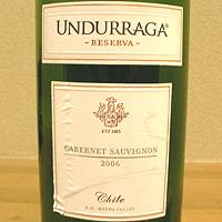 ウンドラーガ / カベルネ・ソーヴィニヨン・レゼルバ '2006'