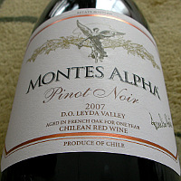 モンテス / モンテスアルファ・ピノ・ノワール '2007'